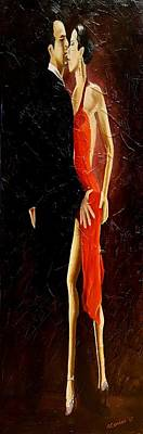 Painting - Tango Dancers #3 by Alan Conder