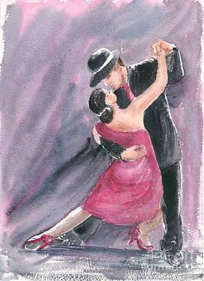 Painting - Tango Dancers by Asha Sudhaker Shenoy