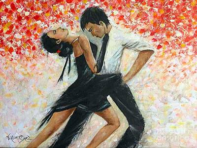 Tango Dancers Original by Viktoriya Sirris
