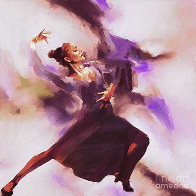 Ballet Painting - Tango Dancing Woman 043 by Gull G