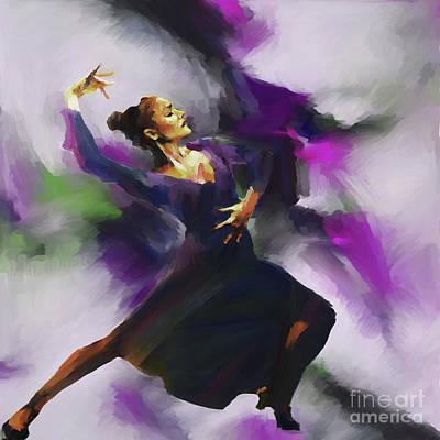 Tango Dancing Woman  Art Print