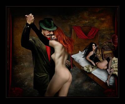 Villalba Photograph - Tango De Burdeles by Raul Villalba