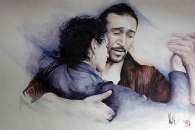 Painting - Tango Embrace by Alan Kirkland-Roath