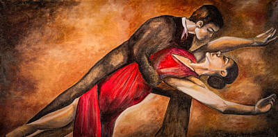 Painting - Tango In Love by Jenny anne Morrison