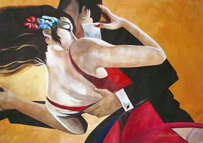 Tango Art Print by Lelia DeMello