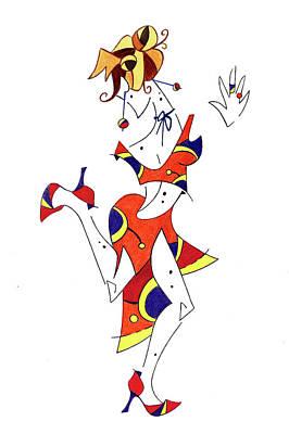 Tango Lessons - Woman Shoes - Dancing Illustration Original