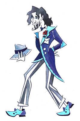 Tango Man - Drawing Illustration Original