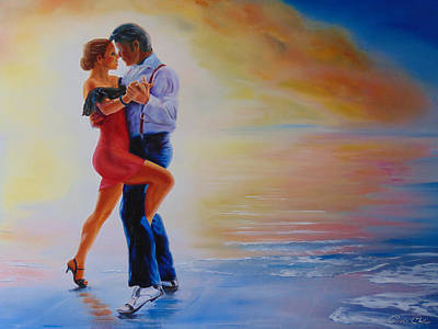 Painting - Tango Moment by Christopher Childs