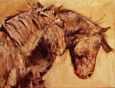 Unity Painting - Tango - Mustangs by Susie Gordon