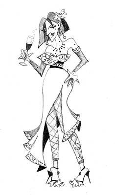 Bailarina Drawing - Tango Party - Happy New Year by Arte Venezia