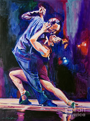 Tango Dancers Painting - Tango Romantico by David Lloyd Glover