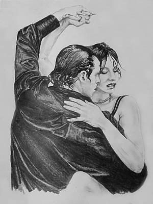 Drawing - Tango by Sheryl Gallant