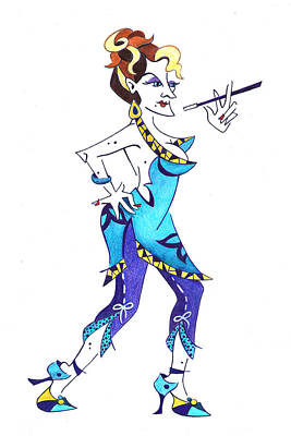 Drawing - Tango Woman - Fashion Illustration by Arte Venezia