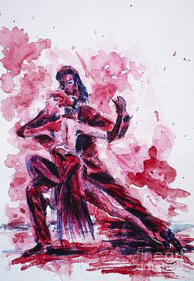Painting - Tango  by Zaira Dzhaubaeva