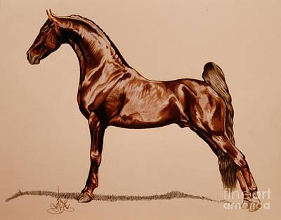 Painting - Tangos Daylight - Saddlebred Stallion by Cheryl Poland