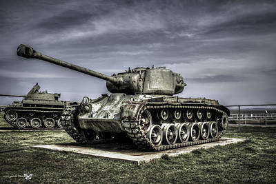 Photograph - Tank At Uss Alabama Memorial Park by Debra Forand