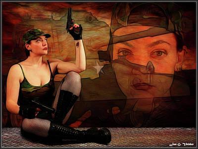 Photograph - Tank Girl Memories by Jon Volden