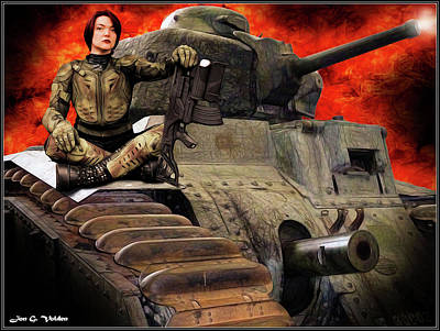 Photograph - Tank Heroine by Jon Volden