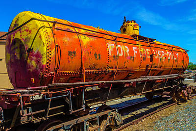 Tanker Wall Art - Photograph - Tanker For Fire Use Only by Garry Gay