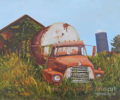 International Harvester Truck Painting - Tankerous by Alicia Drakiotes