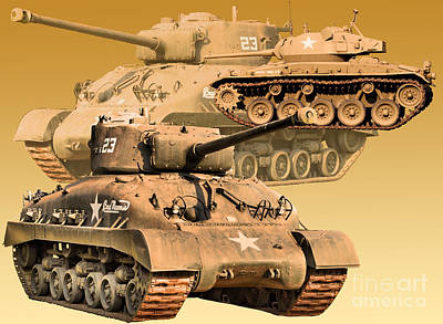 Art Print featuring the photograph Tanks Two by Ken Frischkorn