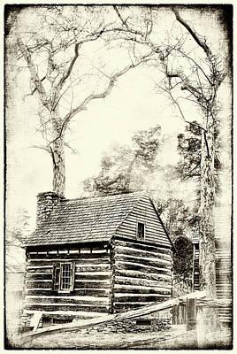 Photograph - Tannenbaum Historic Cabin Bw by Dan Carmichael