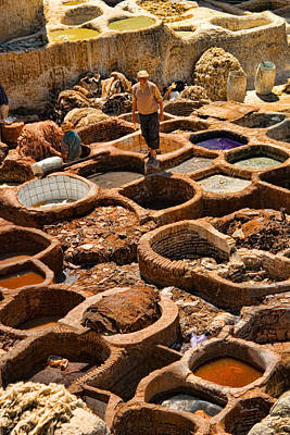 Photograph - Tanneries Of Ancient Fes Morroco by David Smith