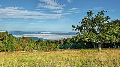 Photograph - Tanners Ridge Overlook Morning Fog Ocean by Lara Ellis