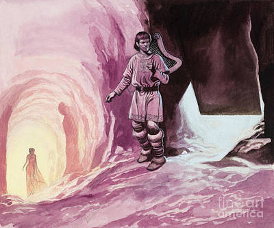 Tannhauser Following Venus Inside The Cavern Art Print