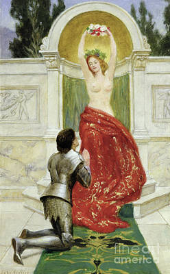 Collier Painting - Tannhauser In The Venusburg by John Collier
