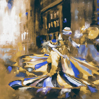Painting - Tanoura Dance 449 II by Mawra Tahreem