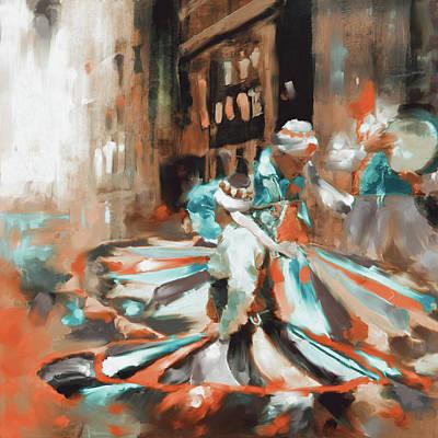 Painting - Tanoura Dance 449 IIi by Mawra Tahreem