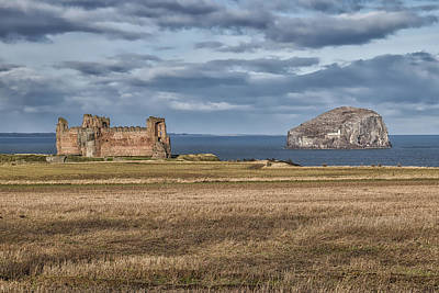 Photograph - Tantallon Castle And Bass Rock by Jeremy Lavender Photography