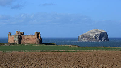 Tantallon Castle And The Bass Rock Art Print by Maria Gaellman