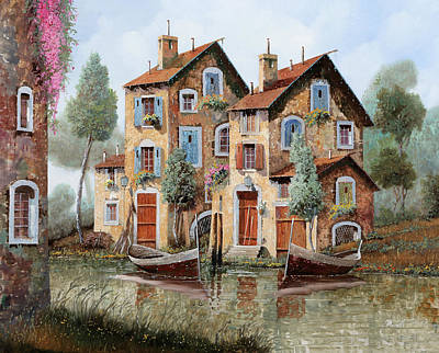 Painting Rights Managed Images - Tante Finestre Royalty-Free Image by Guido Borelli