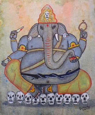 Painting - Tantrika Ganapati by Pratyasha Nithin
