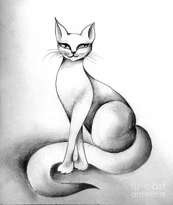 Tanya The Cat. Shorthaired Kitty Print by Sofia Metal Queen