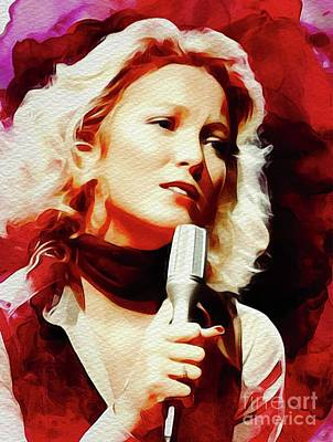 Rock And Roll Paintings - Tanya Tucker, Country Music Legend by John Springfield