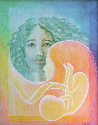 Painting - Tao Of Love - Family by Bernadette Wulf