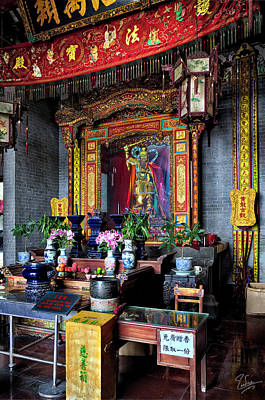 Photograph - Tao Temple Altar by Endre Balogh
