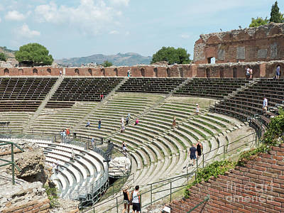 Photograph - Taormina Greek Theatre by Rod Jones