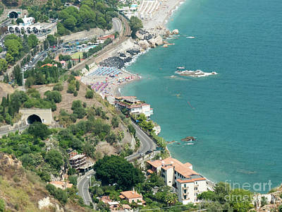 Photograph - Taormina Vista by Rod Jones