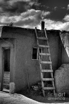Taos Adobe And Ladder Art Print by David Waldrop