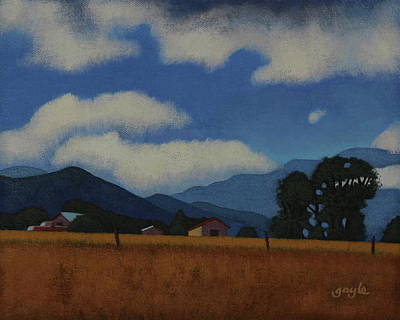 Painting - Taos Blues by Gayle Faucette Wisbon