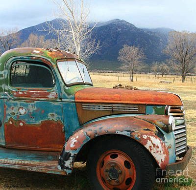 Old Truck Photograph - Taos Chevrolet Pickup Truck Photograph by CheyAnne Sexton