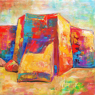 Painting - Taos Church by Sally Quillin