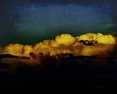 Mixed Media - Taos Clouds by Charles Muhle