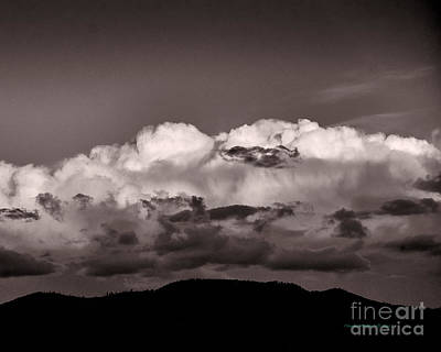 Photograph - Taos Clouds In B-w by Charles Muhle