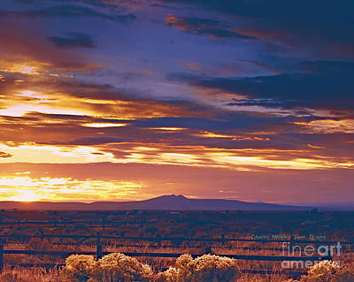 Photograph - Taos Evening by Charles Muhle
