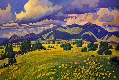 Painting - Taos Fields Of Yellow by Art West